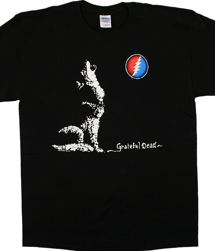 Grateful Dead GD Wolf Moon Black T-Shirt Tee