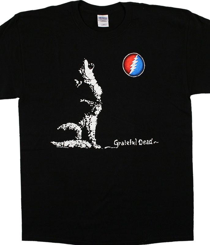 Grateful Dead GD Wolf Moon Black T-Shirt Tee