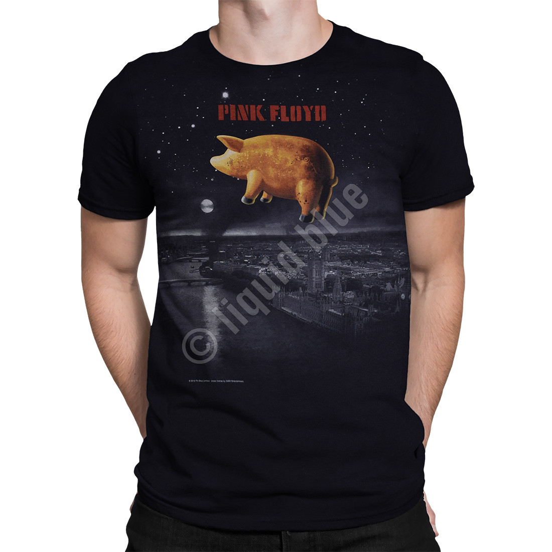 Pigs Over London Black T-Shirt
