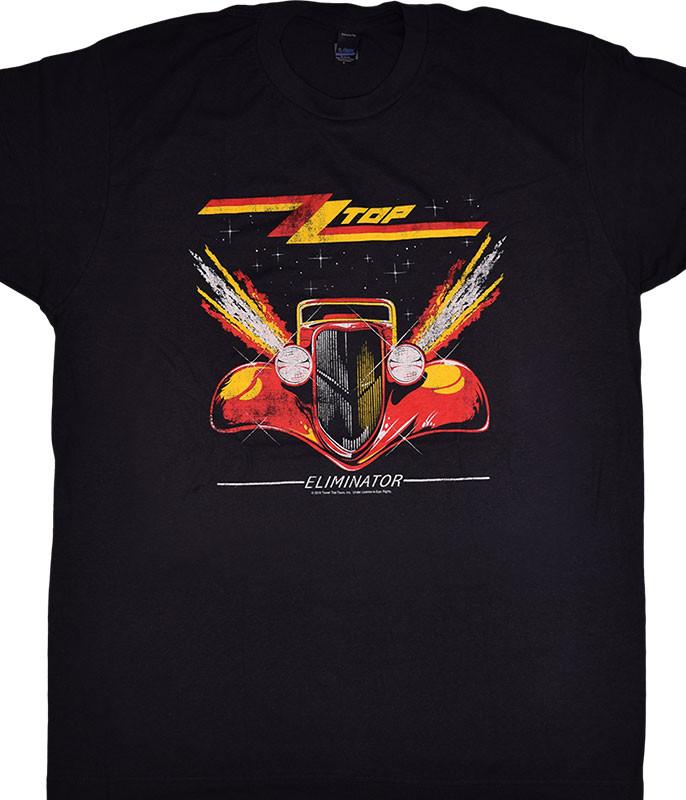 ZZ Top Eliminator Black Grey T-Shirt Tee Liquid Blue