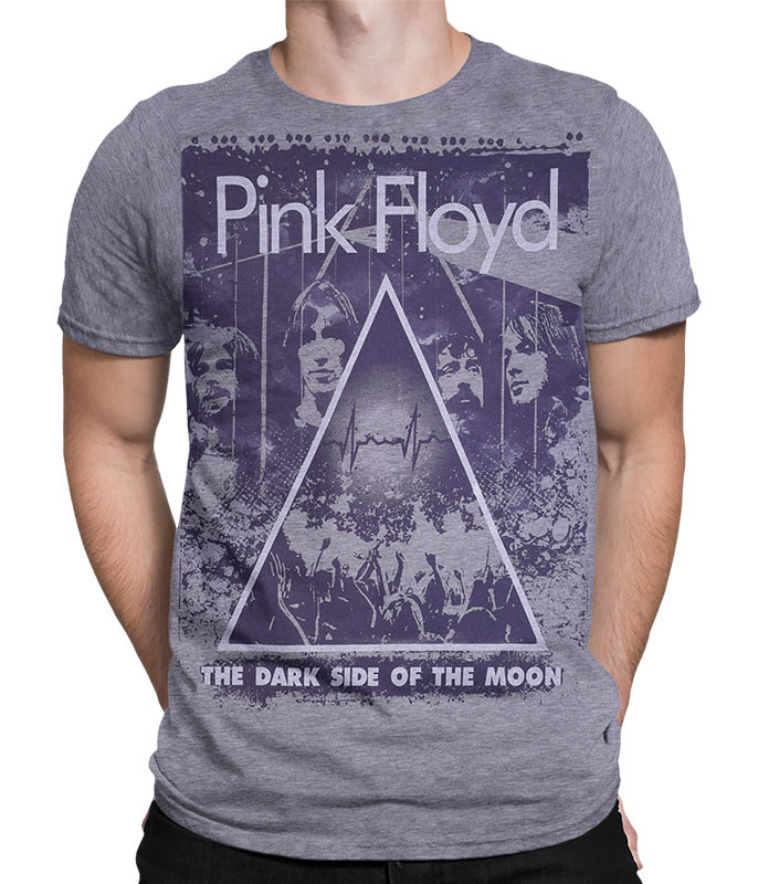 Pink Floyd Live Heather Grey Poly-Cotton T-Shirt Tee Liquid Blue