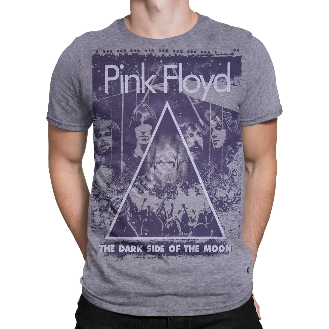 Pink Floyd Live Heather Grey Poly-Cotton T-Shirt