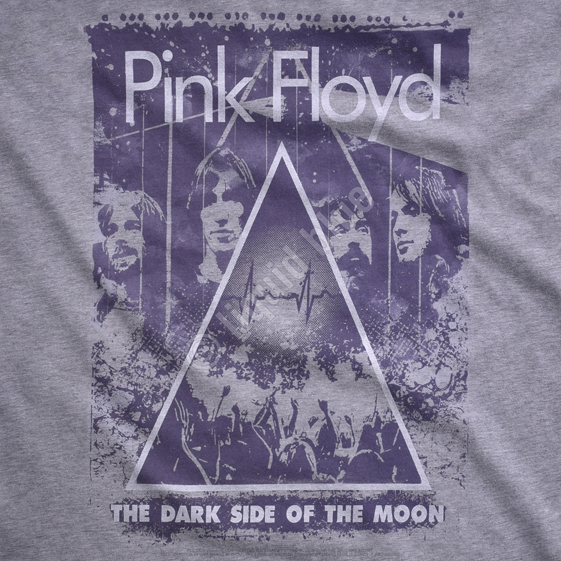 Pink Floyd Live Heather Grey Poly-Cotton T-Shirt
