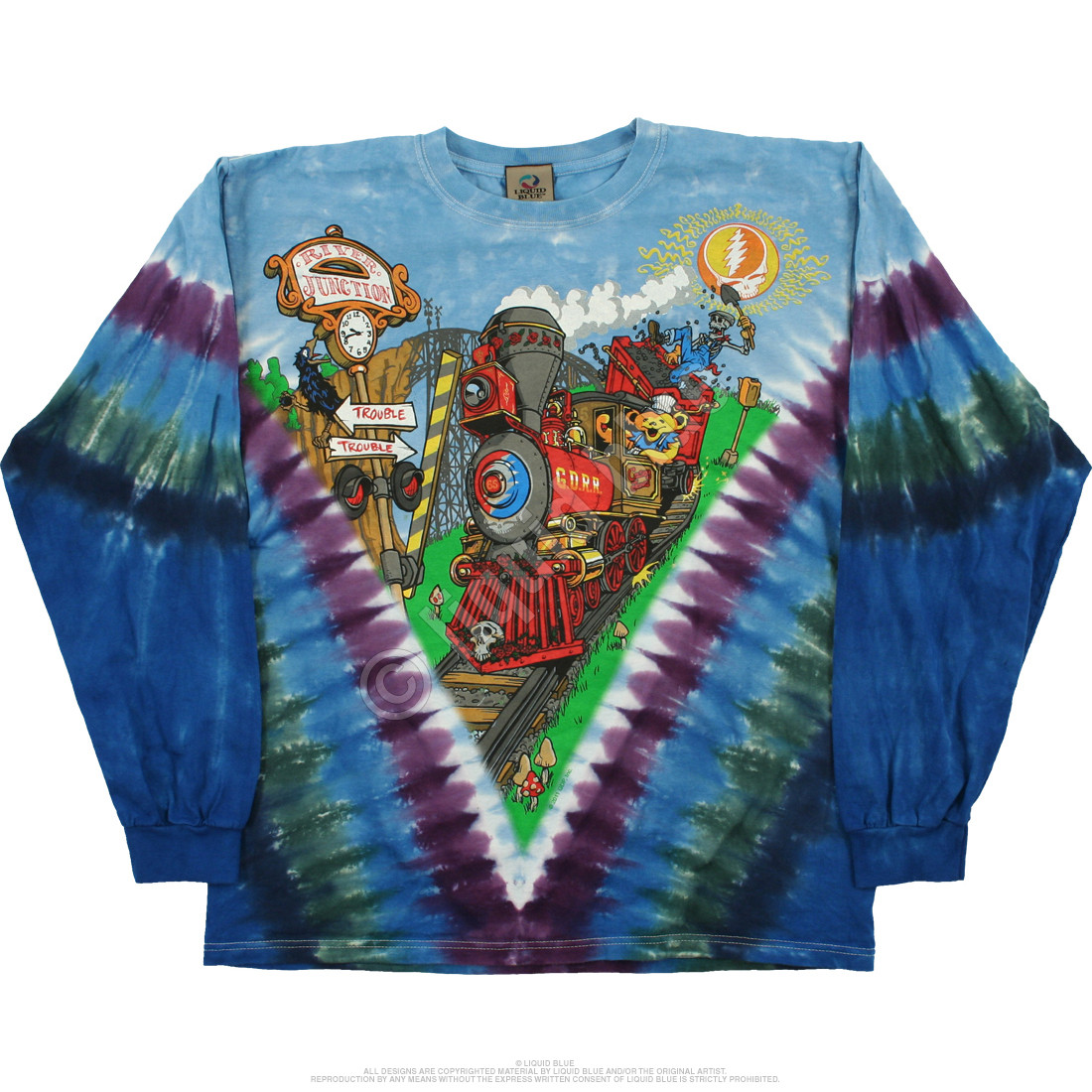 Casey Jones Tie-Dye Long Sleeve T-Shirt