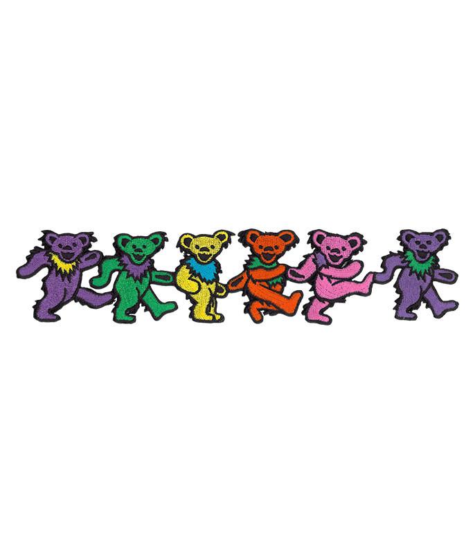 Grateful Dead GD Dancin Bear Strip Patch