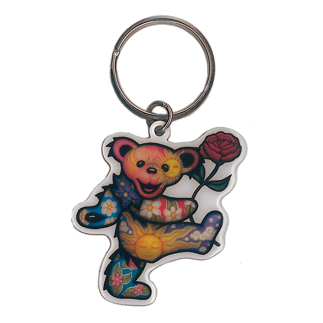 Rose Bear Keychain