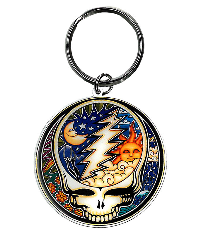Grateful Dead Psychedelic SYF Keychain Liquid Blue