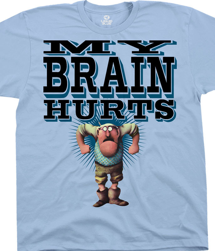 Monty Python Gumbys Light Blue T-Shirt Tee Liquid Blue