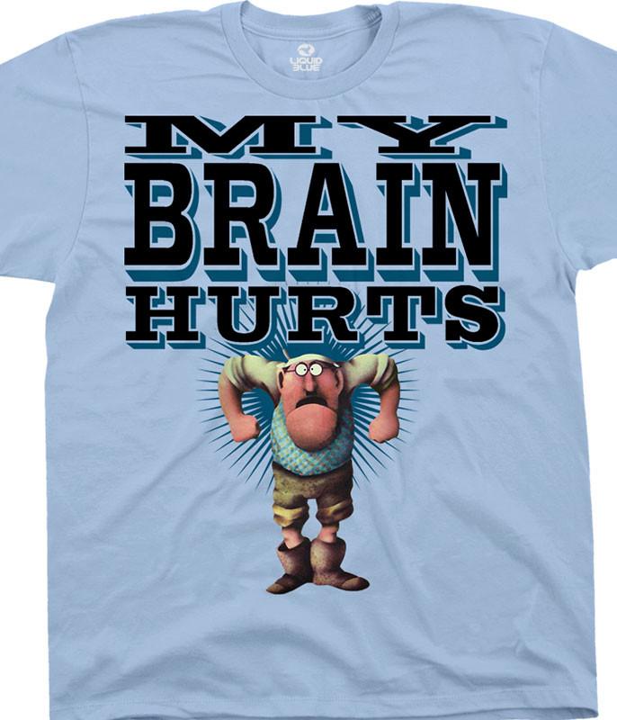Monty Python Gumbys Light Blue T-Shirt Tee Liquid Blue