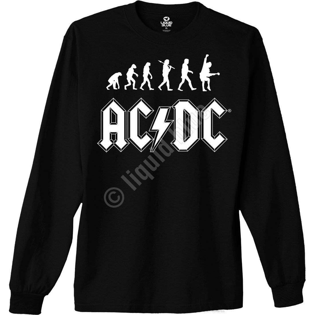 Rock Evolution Black Long Sleeve T-Shirt