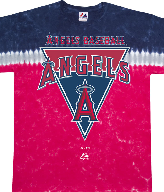 MLB Los Angeles Angels Pennant Tie-Dye T-Shirt Tee Liquid Blue