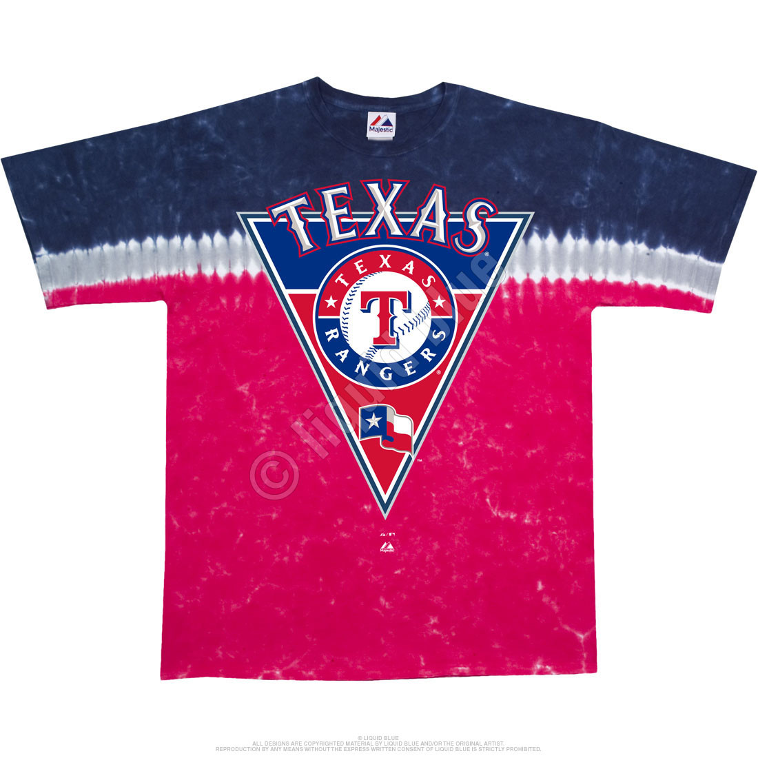 Texas Rangers Pennant Tie-Dye T-Shirt - Clearance 30% OFF