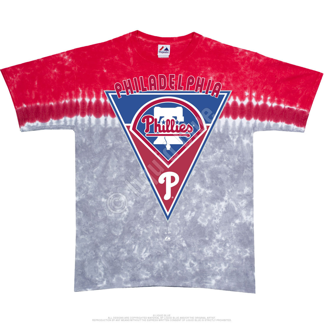 Philadelphia Phillies Pennant Tie-Dye T-Shirt - Clearance 30% OFF