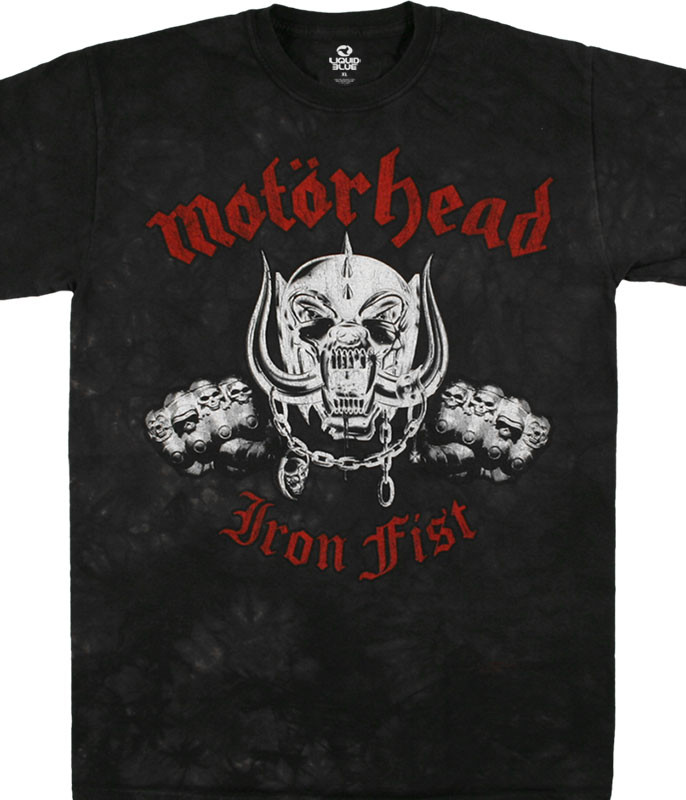 Motorhead Iron Fist Tie-Dye T-Shirt Tee Liquid Blue