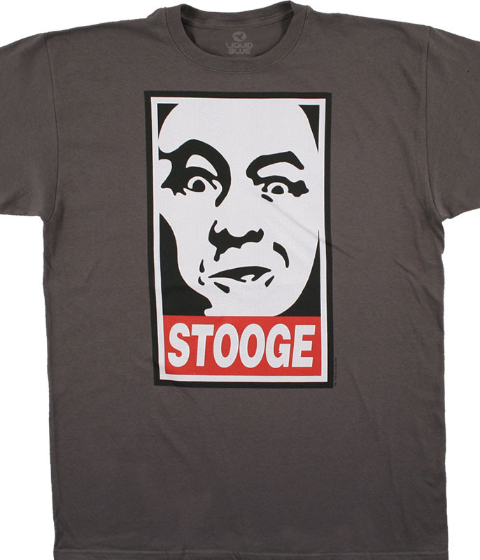 CURLEY THE STOOGE CHARCOAL T-SHIRT