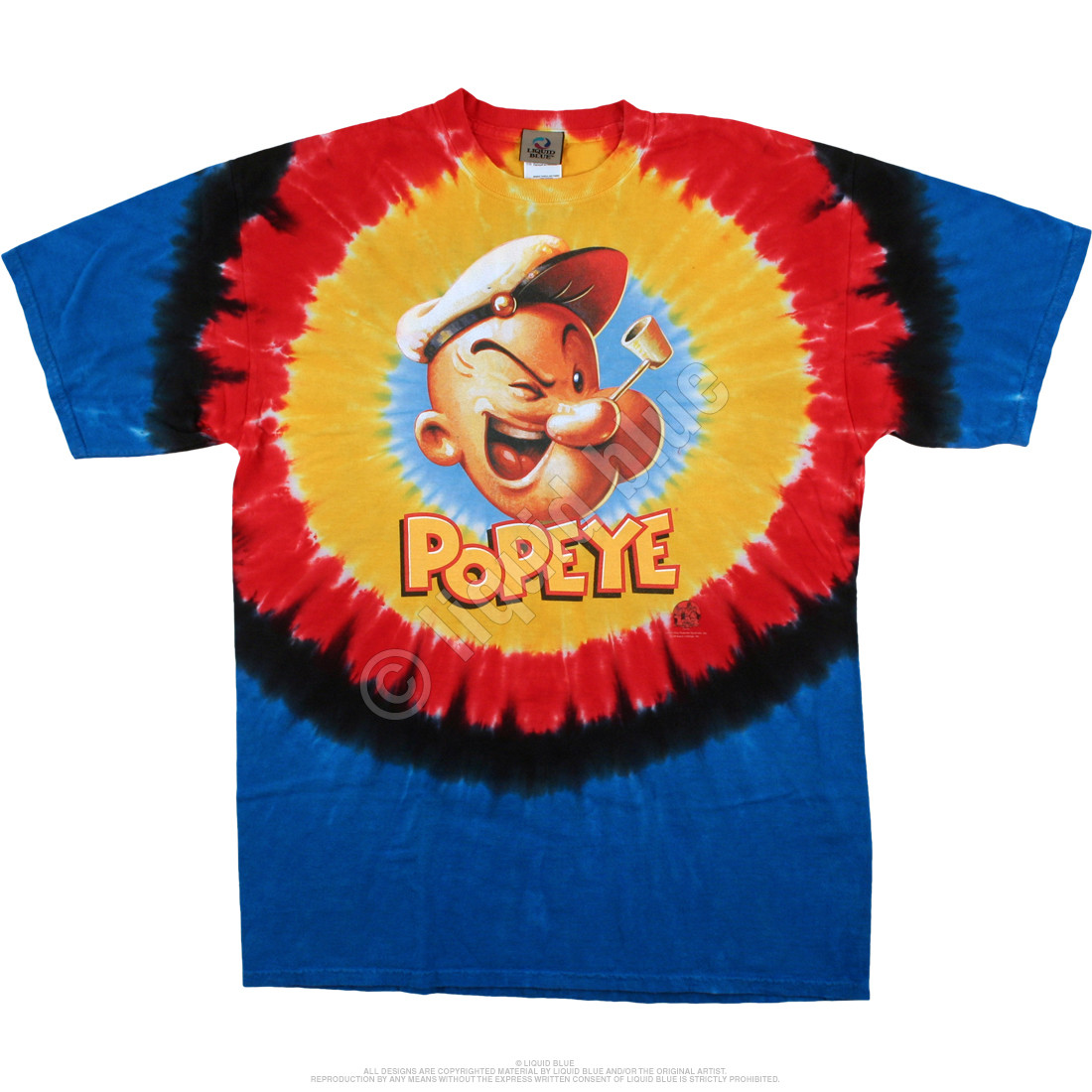 Popeye Concentric Tie-Dye T-Shirt