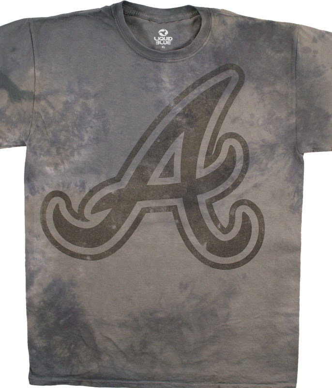 MLB Atlanta Braves Tonal Tie-Dye T-Shirt Tee Liquid Blue