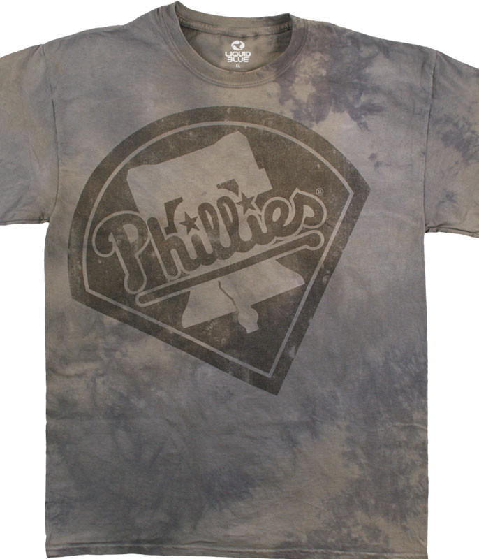 MLB Philadelphia Phillies Tonal Tie-Dye T-Shirt Tee Liquid Blue