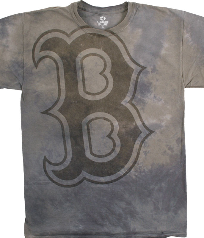 MLB Boston Red Sox Tonal Tie-Dye T-Shirt Tee Liquid Blue