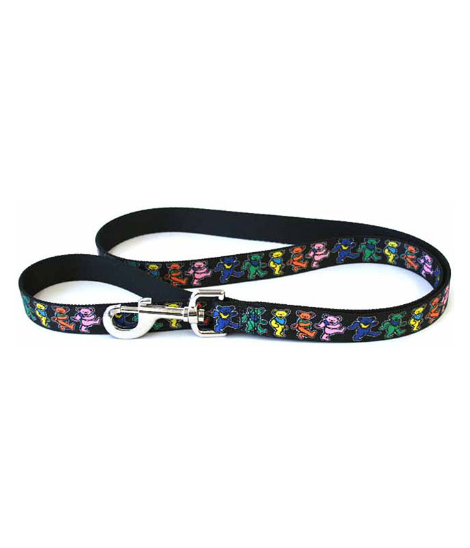 Grateful Dead GD Dancing Bears Dog Leash Black