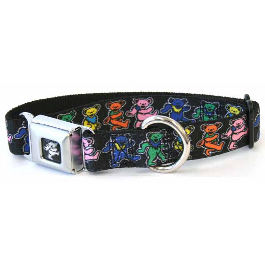 Dancing Bear Dog Collar Lg Black