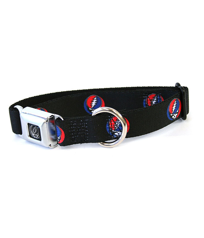 Grateful Dead SYF Dog Collar LG Black