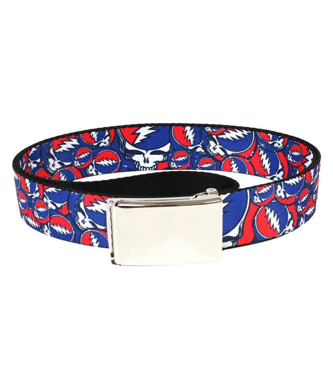 SYF Collage Adjustable Web Belt Black