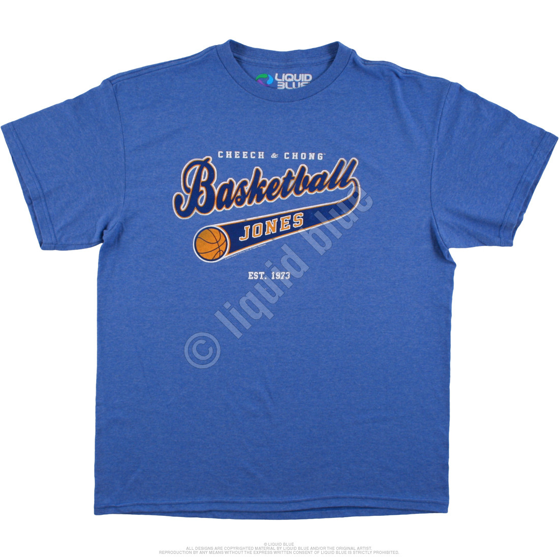 Basketball Jones Blue Heather Athletic T-Shirt - Clearance 30% OFF