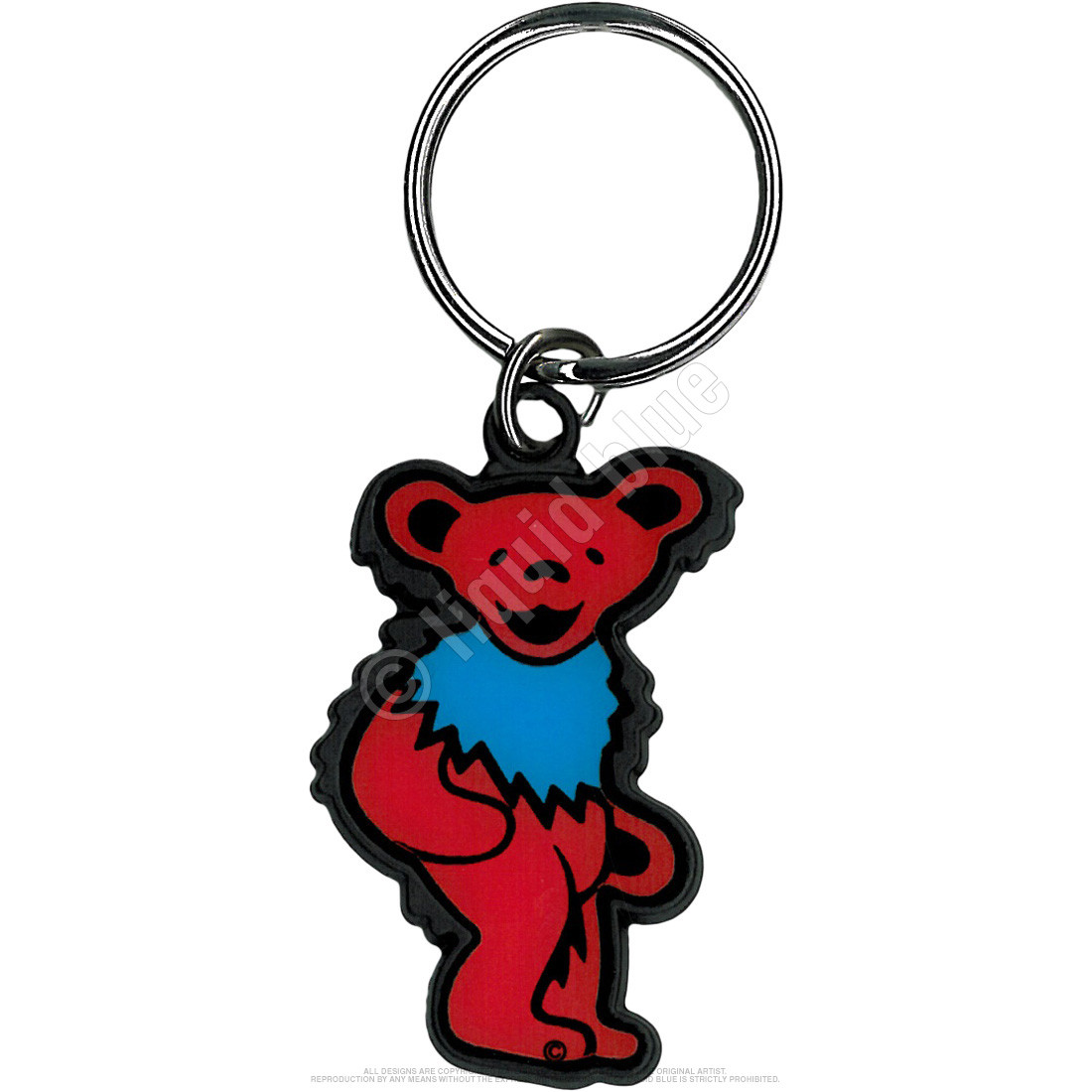 Red And Blue Bear Keychain