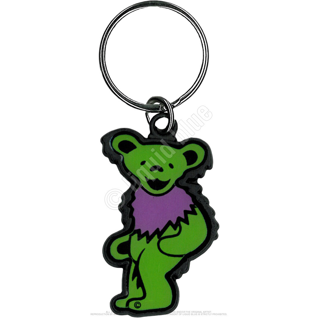 Green And Purple Bear Keychain