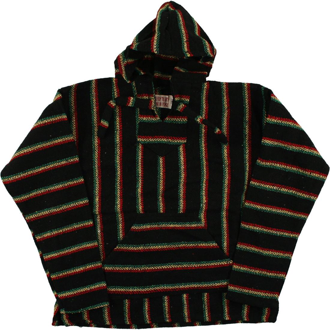 Rasta Baja Pullover Black Hoodie