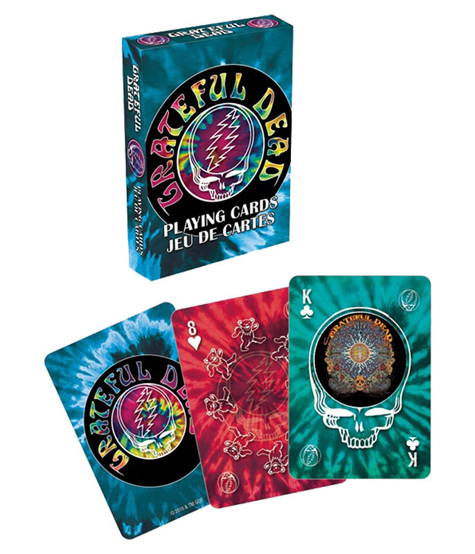Grateful Dead GD Tie-Dye Playing Cards