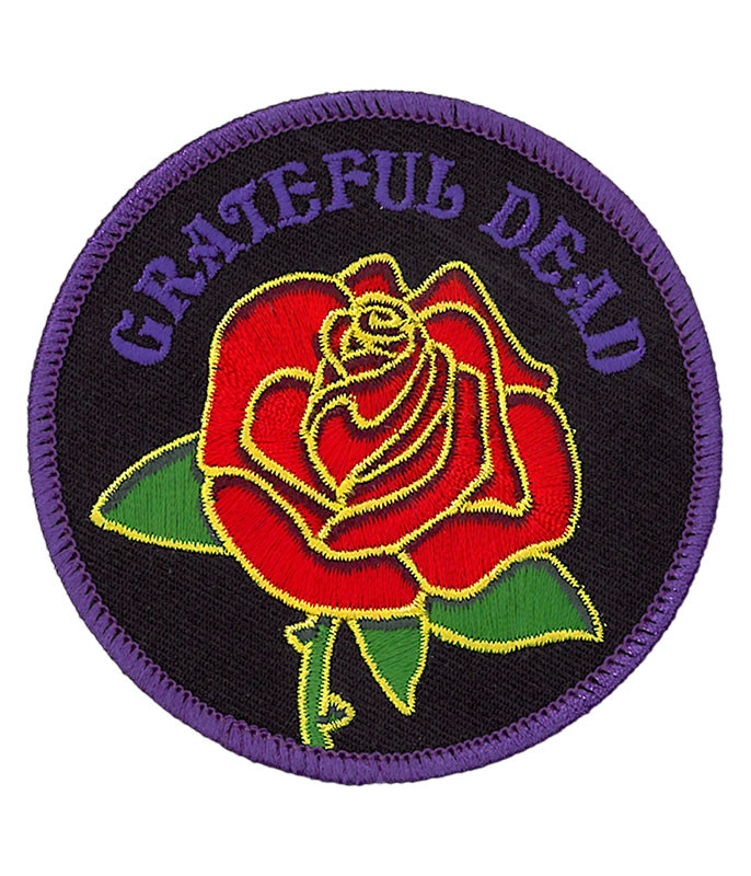 Grateful Dead GD Rose and Logo Patch