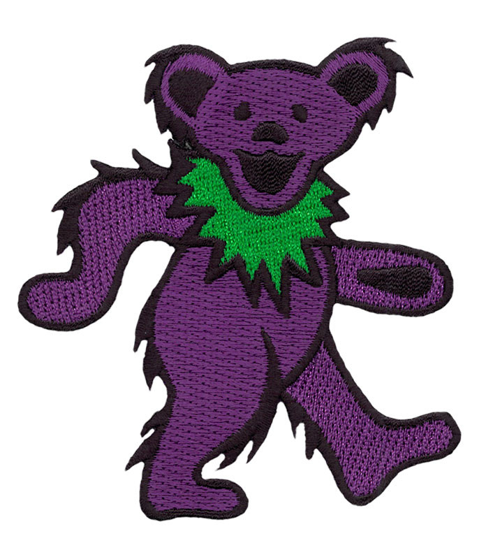 Grateful Dead GD Dancing Bear Purple Patch