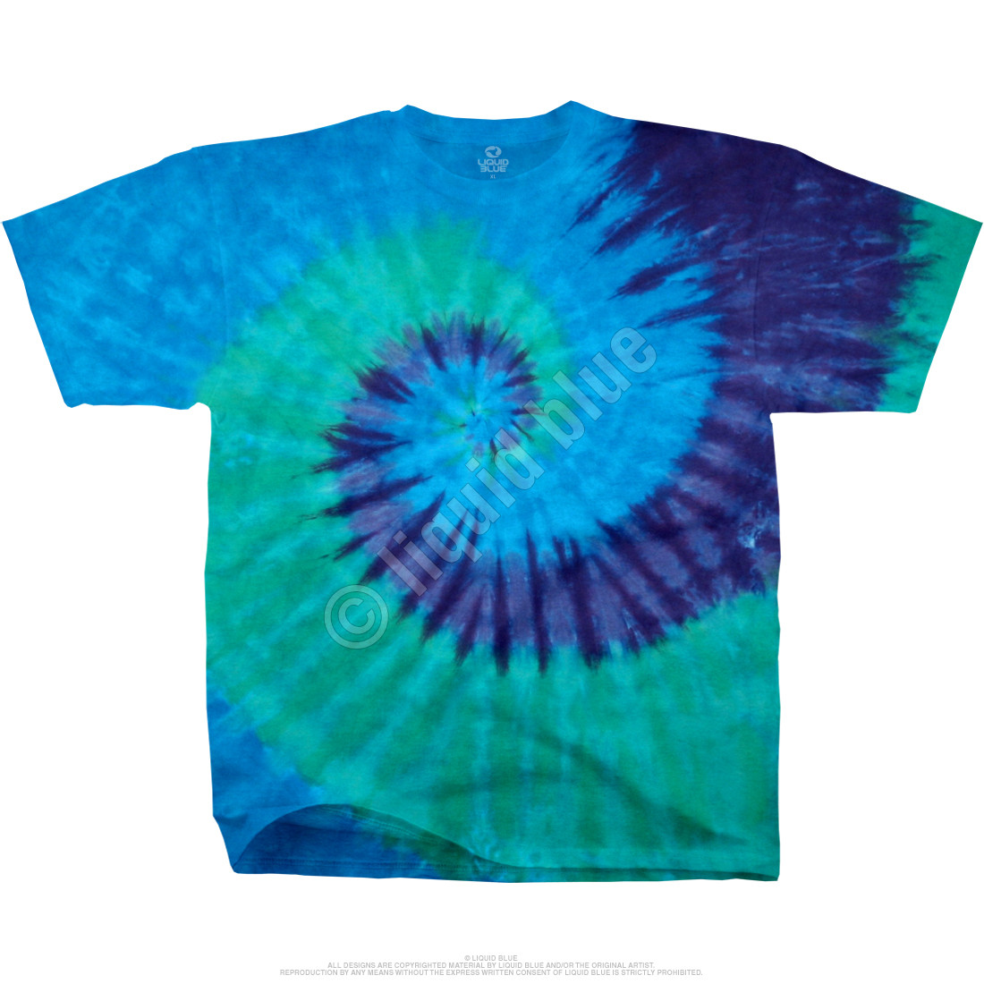 Cool Spiral Youth Unprinted Tie-Dye T-Shirt