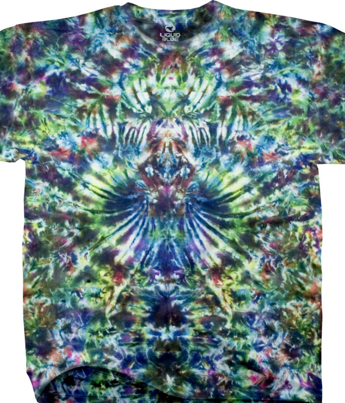 Crazy Krinkle Unprinted Tie-Dye T-Shirt Tee Liquid Blue