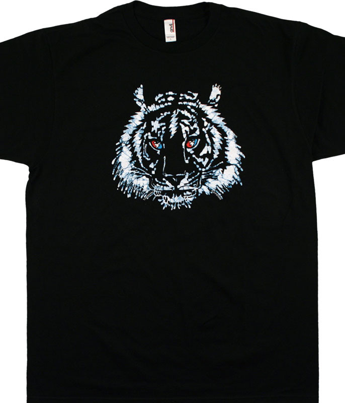 Grateful Dead GD Tiger Batik Bolt Black T-Shirt Tee