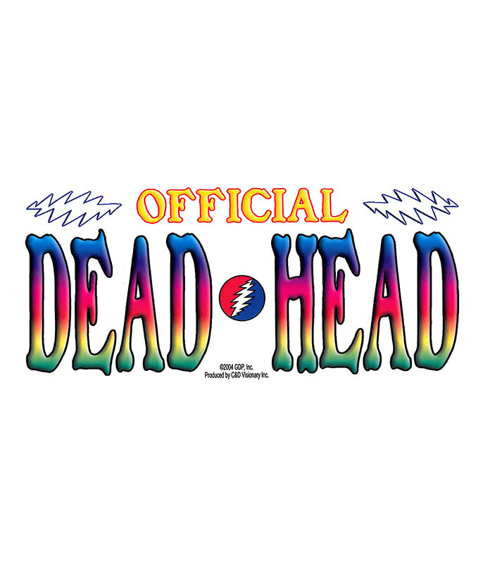 Grateful Dead GD Dead Head Sticker
