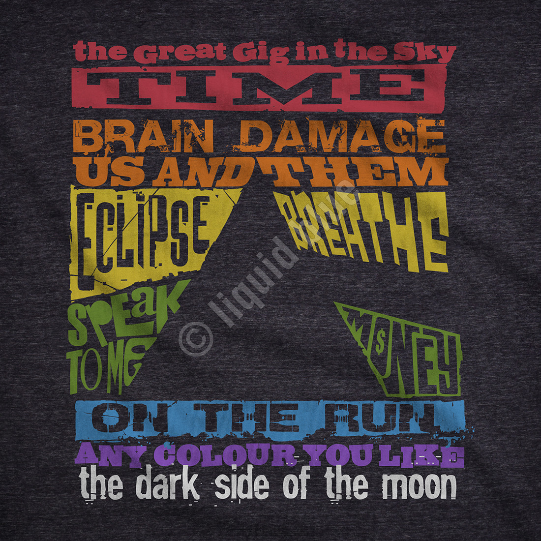 Dark Side Tracks Dark Heather Tri-Blend T-Shirt