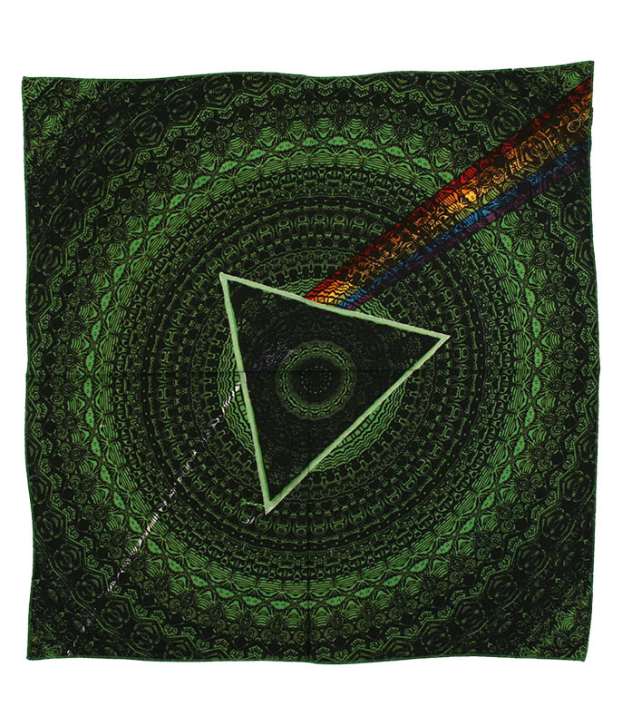 Pink Floyd PF Dark Side Green Bandana