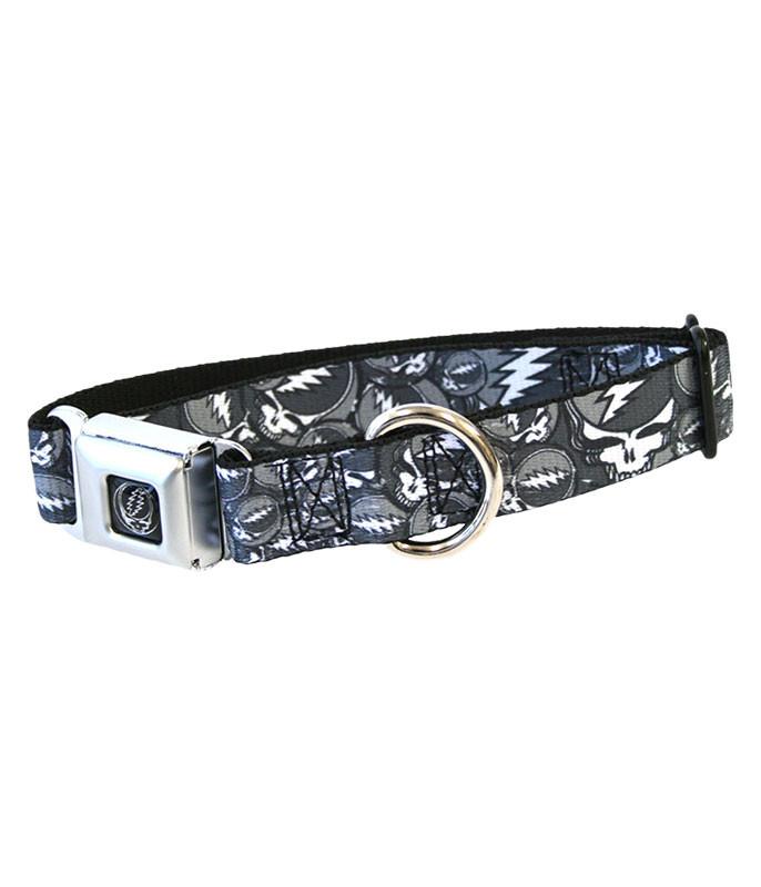 SYF BLACK AND GRAY DOG COLLAR SM