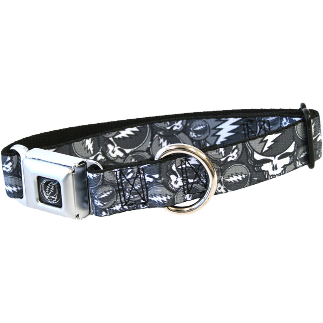 SYF Black And Gray Dog Collar Lg