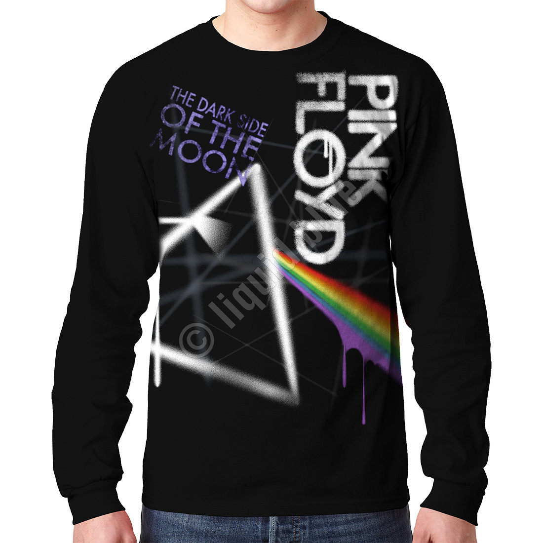 Dark Side Graffiti Black Long Sleeve T-Shirt