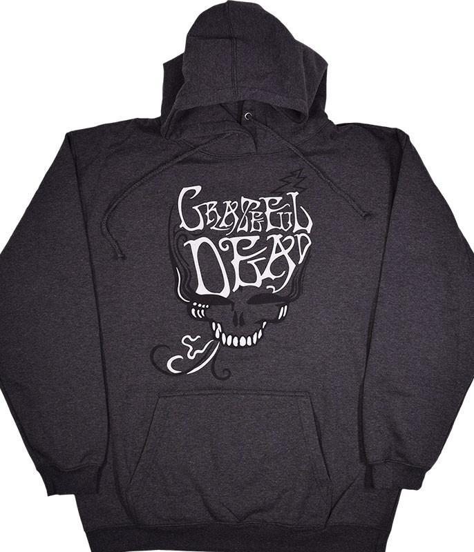 Grateful Dead GD Blue Rose Smoke Grey Hoodie