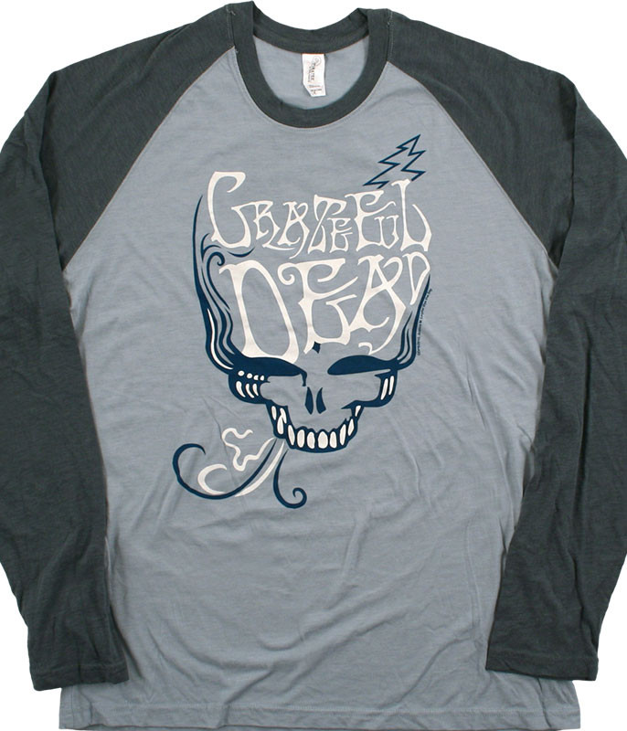 Grateful Dead GD Blue Rose Smoke Light Blue Long Sleeve T-Shirt Tee