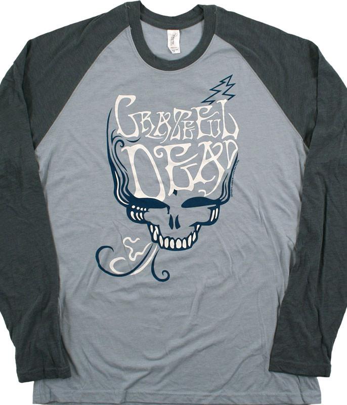 Grateful Dead GD Blue Rose Smoke Light Blue Long Sleeve T-Shirt Tee