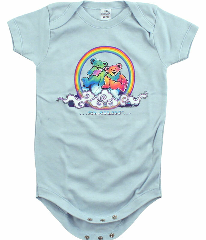 Grateful Dead GD Bears Cloud Light Blue Onesie