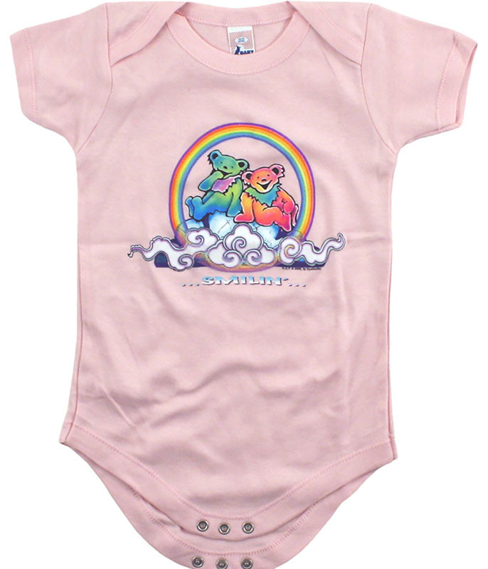 Grateful Dead GD Bears Cloud Pink Onesie