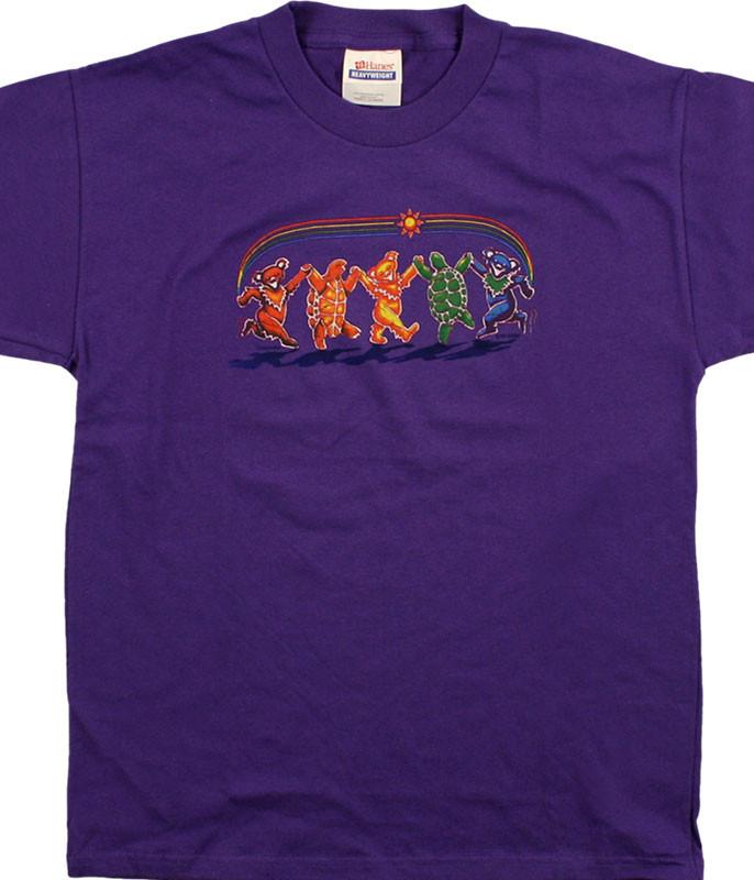 Grateful Dead GD Rainbow Critters Youth Purple T-Shirt Tee