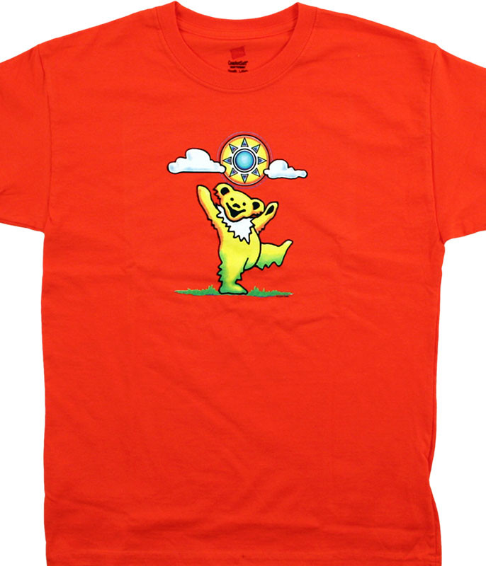 Grateful Dead GD Sunny Bear Youth Orange T-Shirt Tee